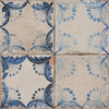 Vecchio Floreale Indigo Vintage Pattern Tiles