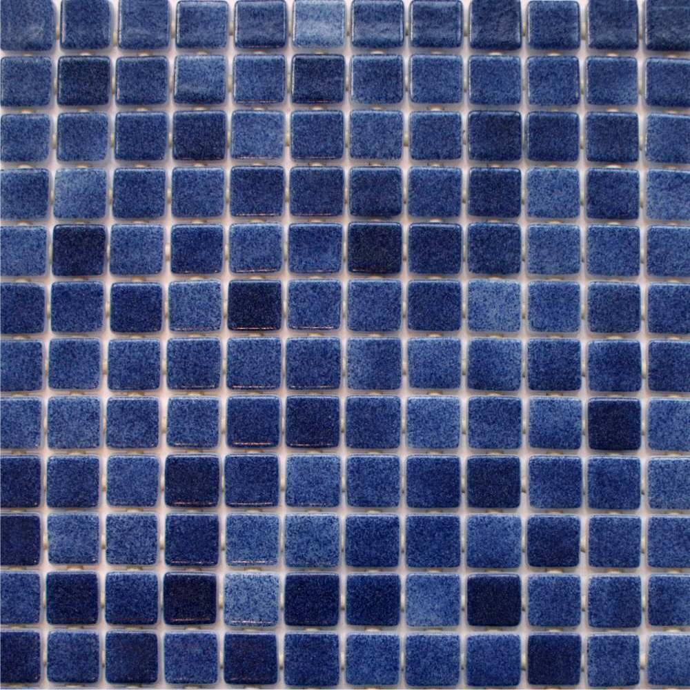 Foggy Dark Blue Tiles