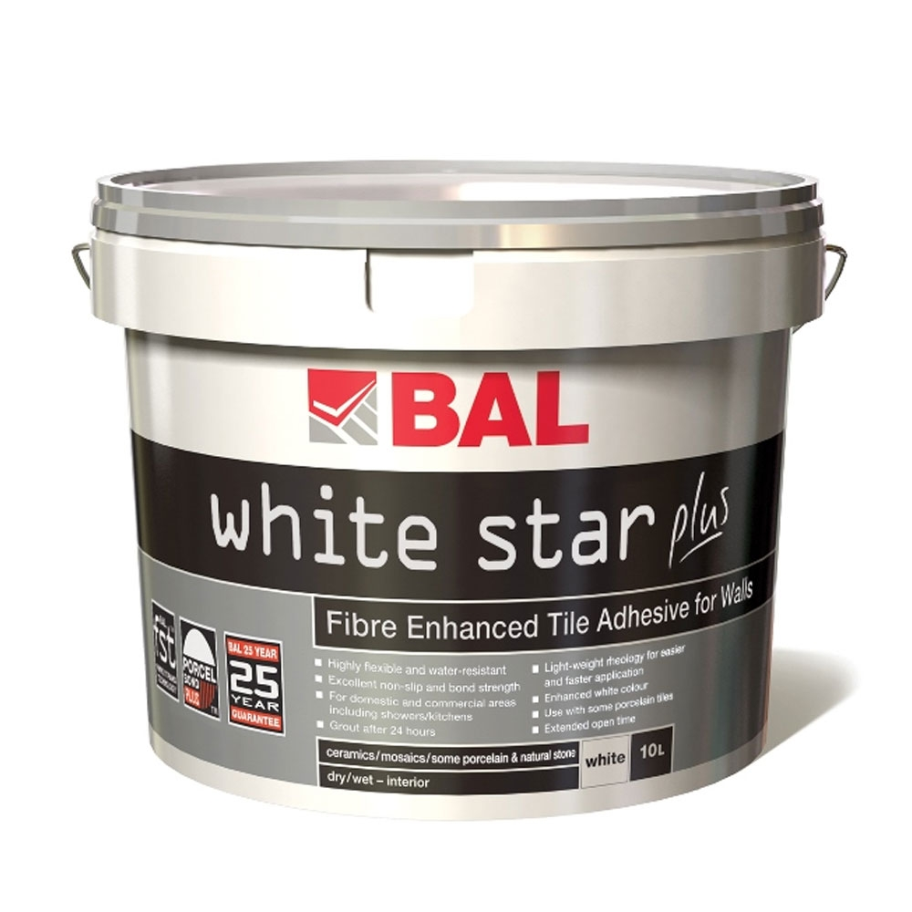 white star plus wall tile adhesive bal wall tile adhesive. Black Bedroom Furniture Sets. Home Design Ideas