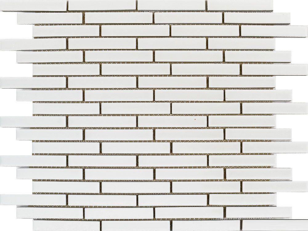 Matt White Long Brick Mosaic Tiles Tiles