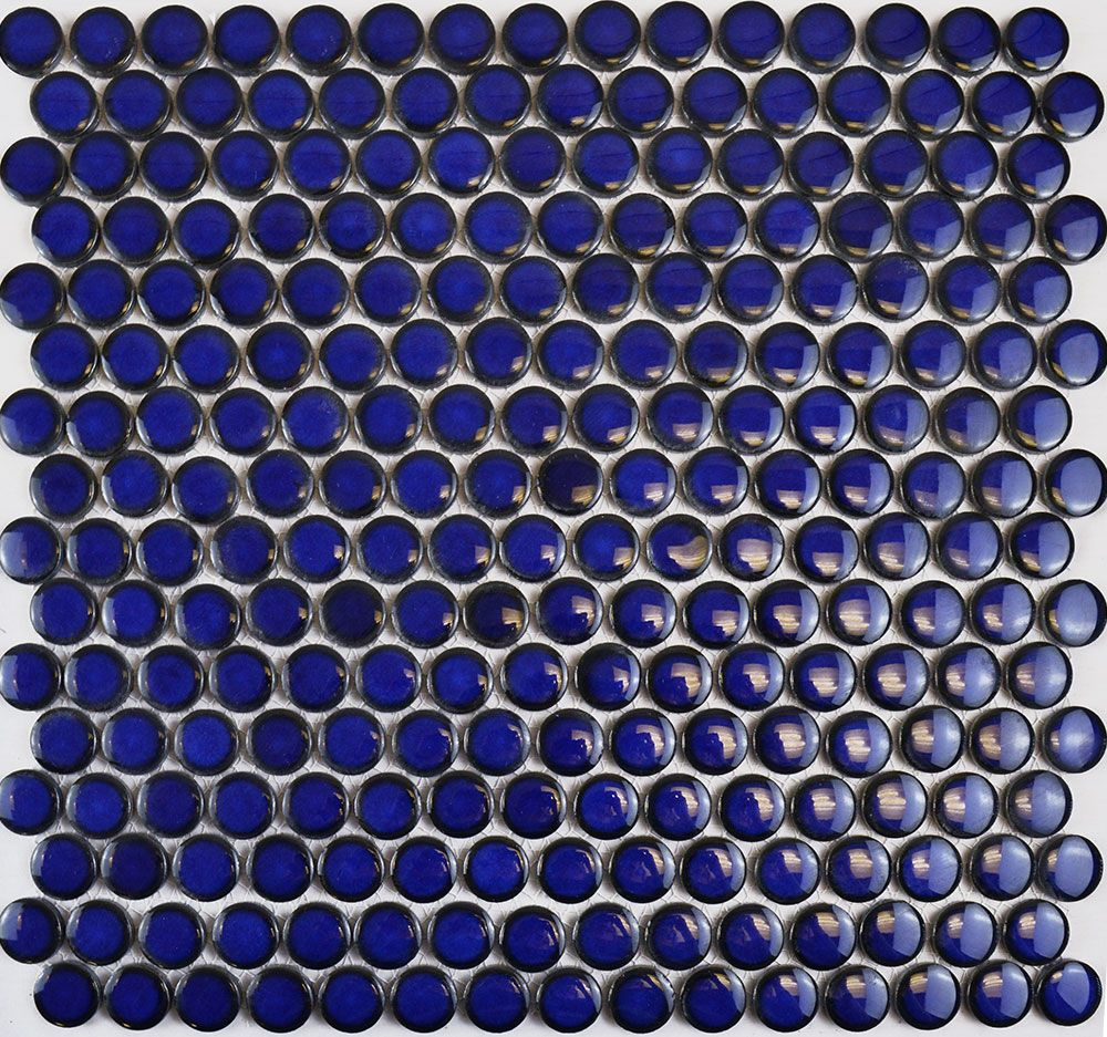 Circular Antique Dark Blue Mosaic Tiles