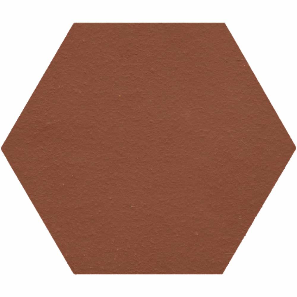 Red Plain 10x10 Hexagon Quarry Tiles