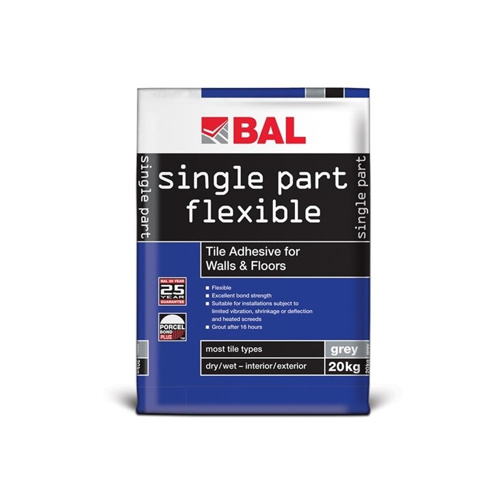 Single Part Flexible Grey Tile Adhesive