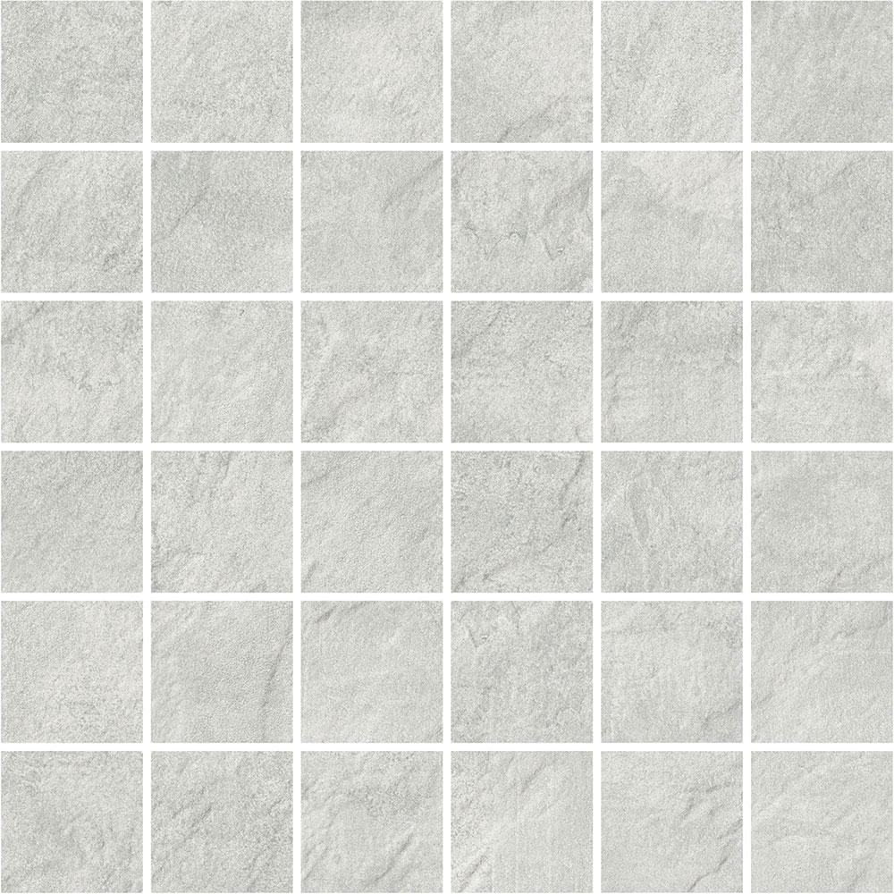 Silver Peony Slate Effect Mosaic Tiles