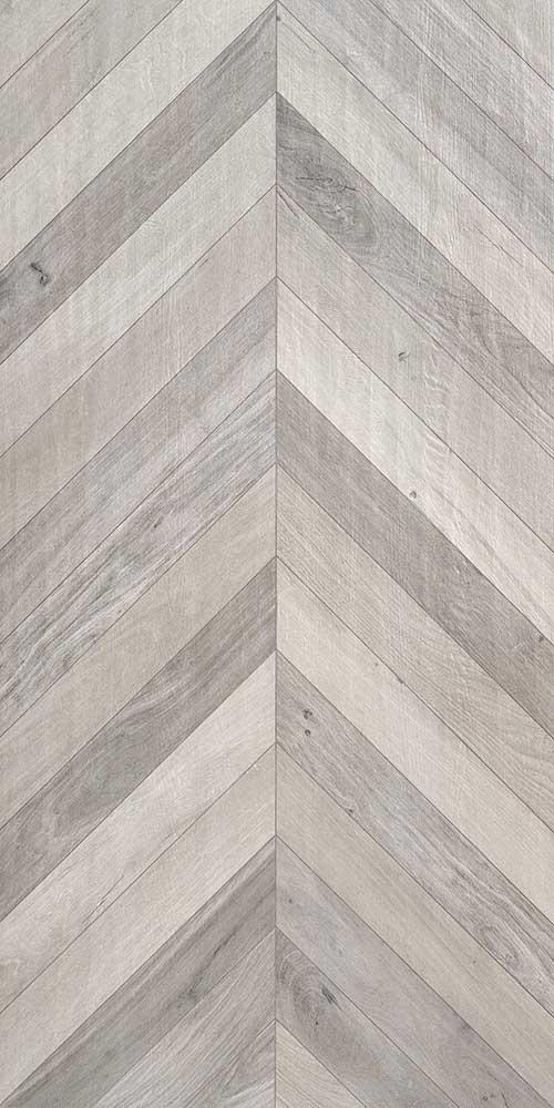 Cerused Mix Wood Effect Chevron Tiles