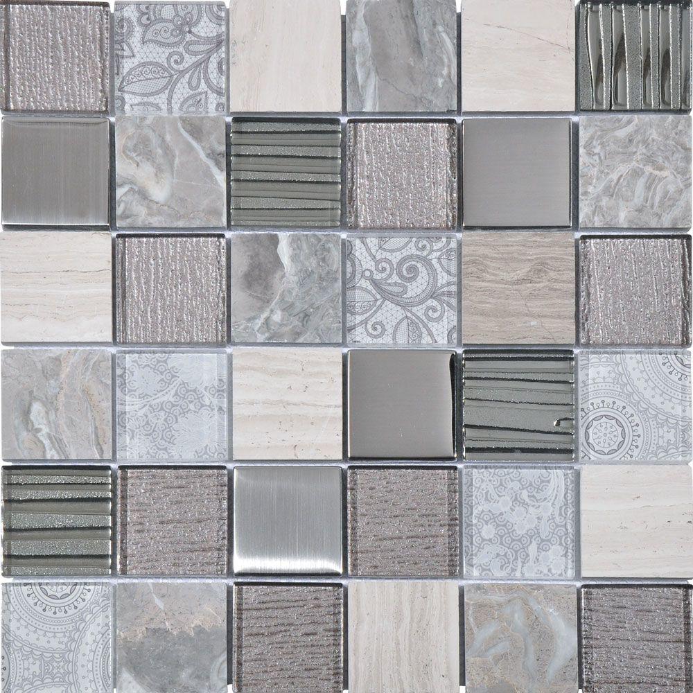 Aspen Grey Mix Mosaic Tiles