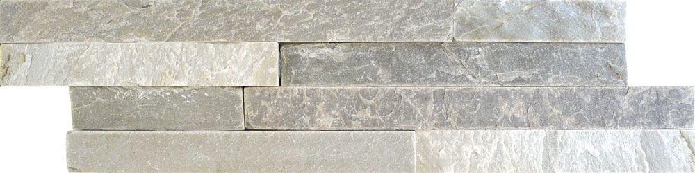 Ledgestone Thin White Grey Split Face Tiles