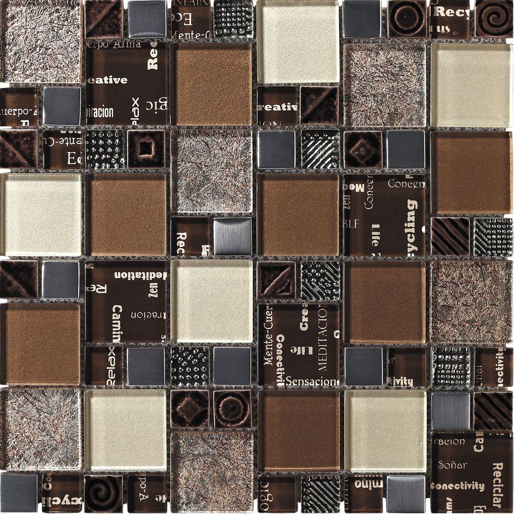 Chocolate Truffle Brown Mosaic Tiles