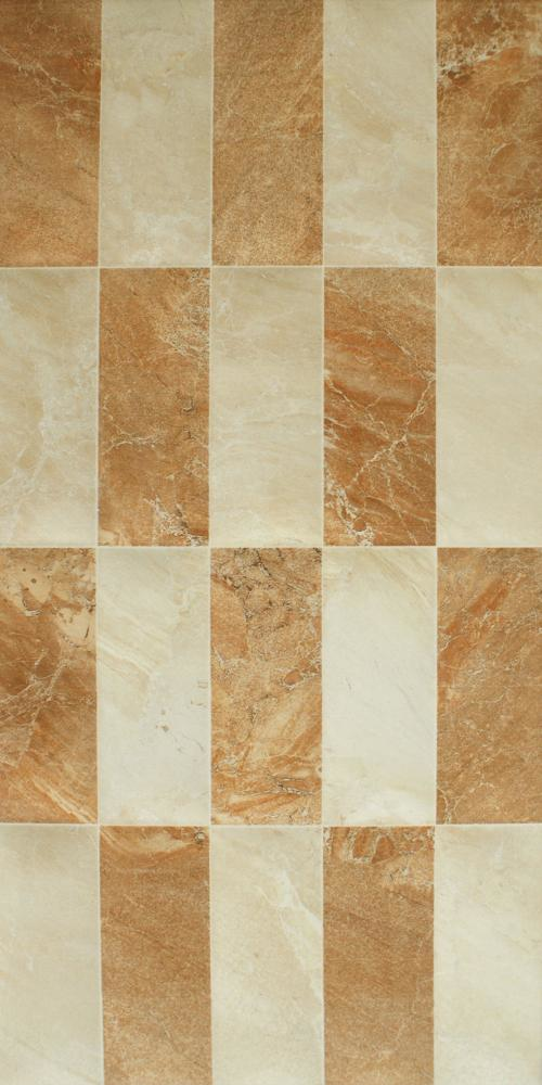 Tan Mix Gloss Mosaic Marble Effect Tiles
