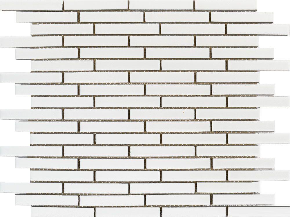 Gloss White Long Brick Mosaic Tiles Tiles