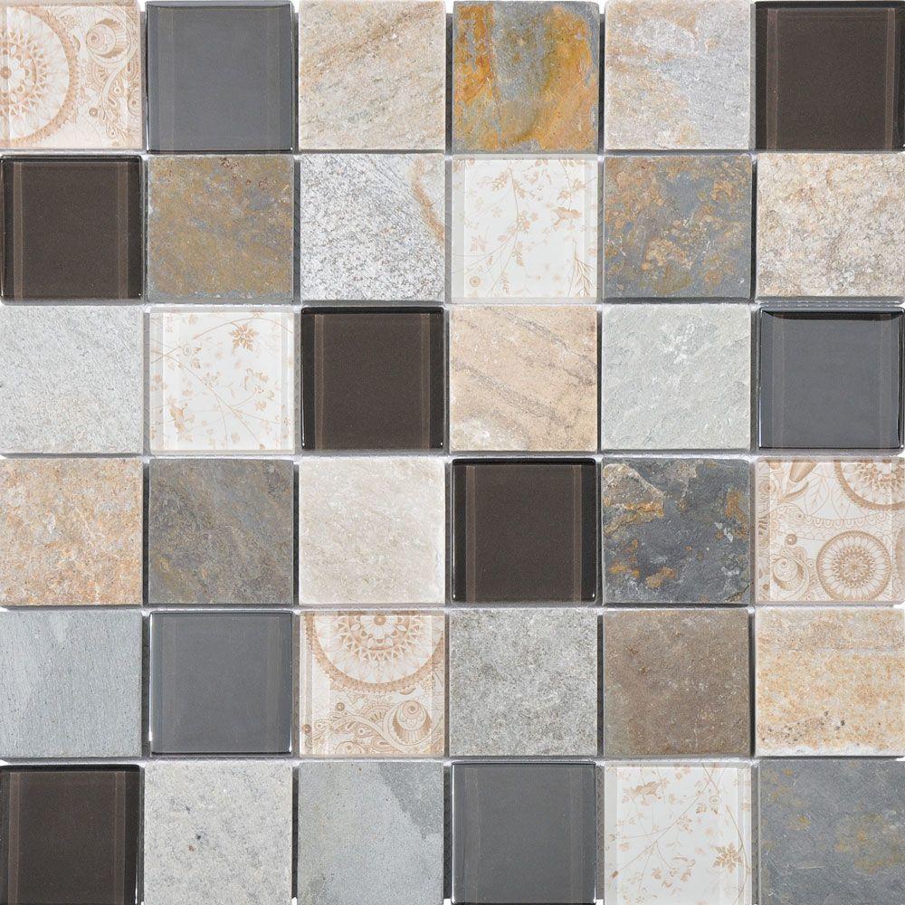 Niseko Beige Mix Mosaic Tiles