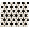 Bijou Gloss Chequer Hexagon Mosaic Tiles