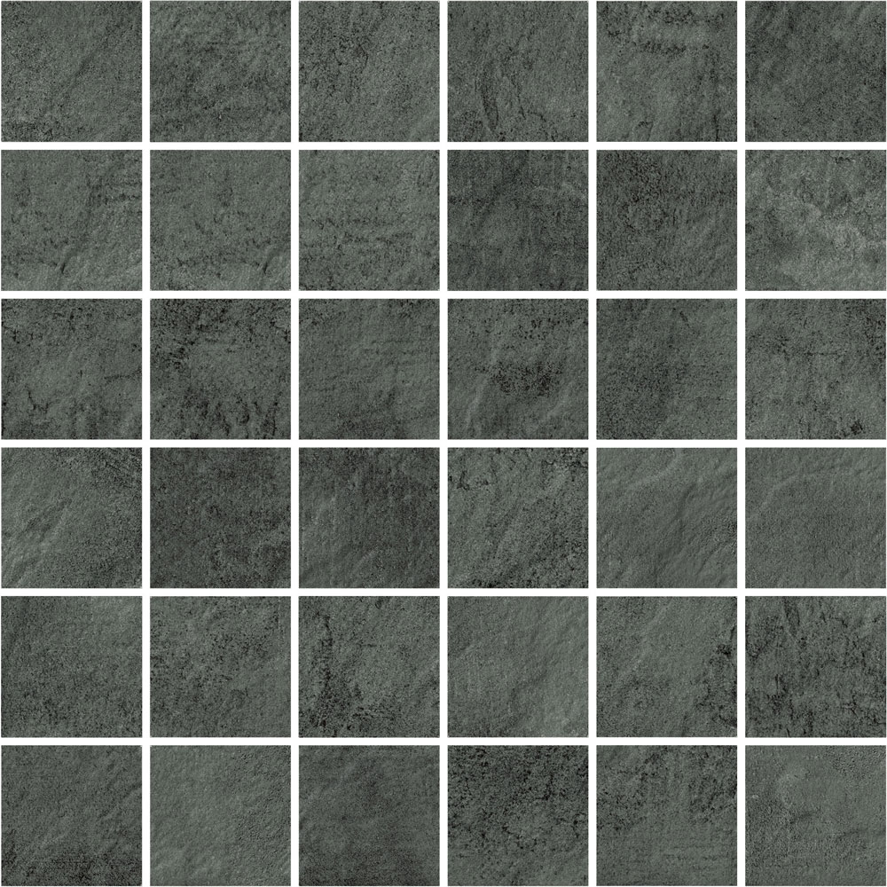 Perle Noir Slate Effect Mosaic Tiles