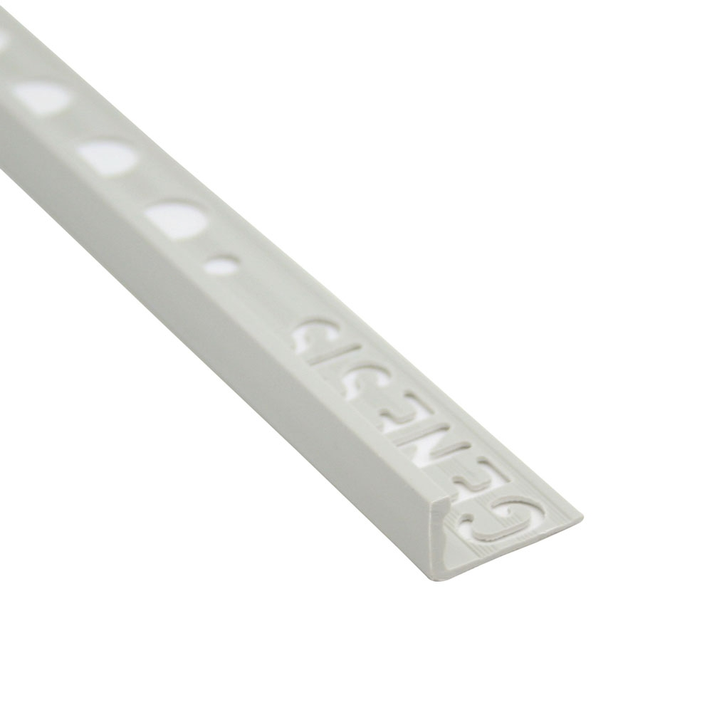 Grey 10mm Straight Edge PVC Tile Trim