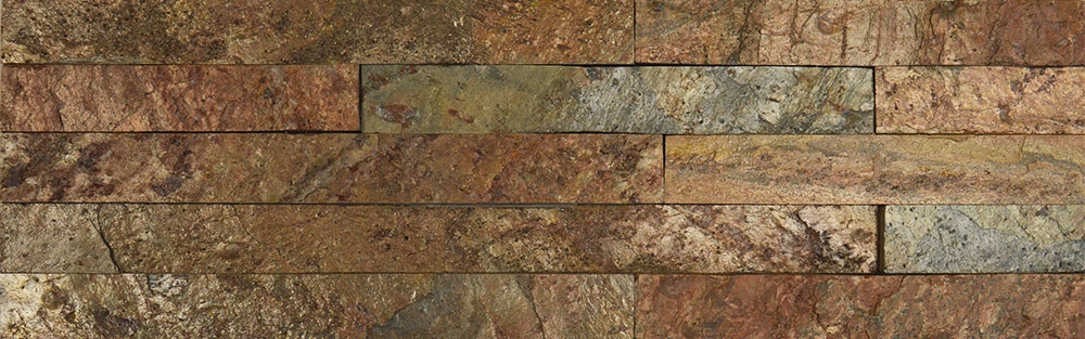 Copper Split Face Tiles