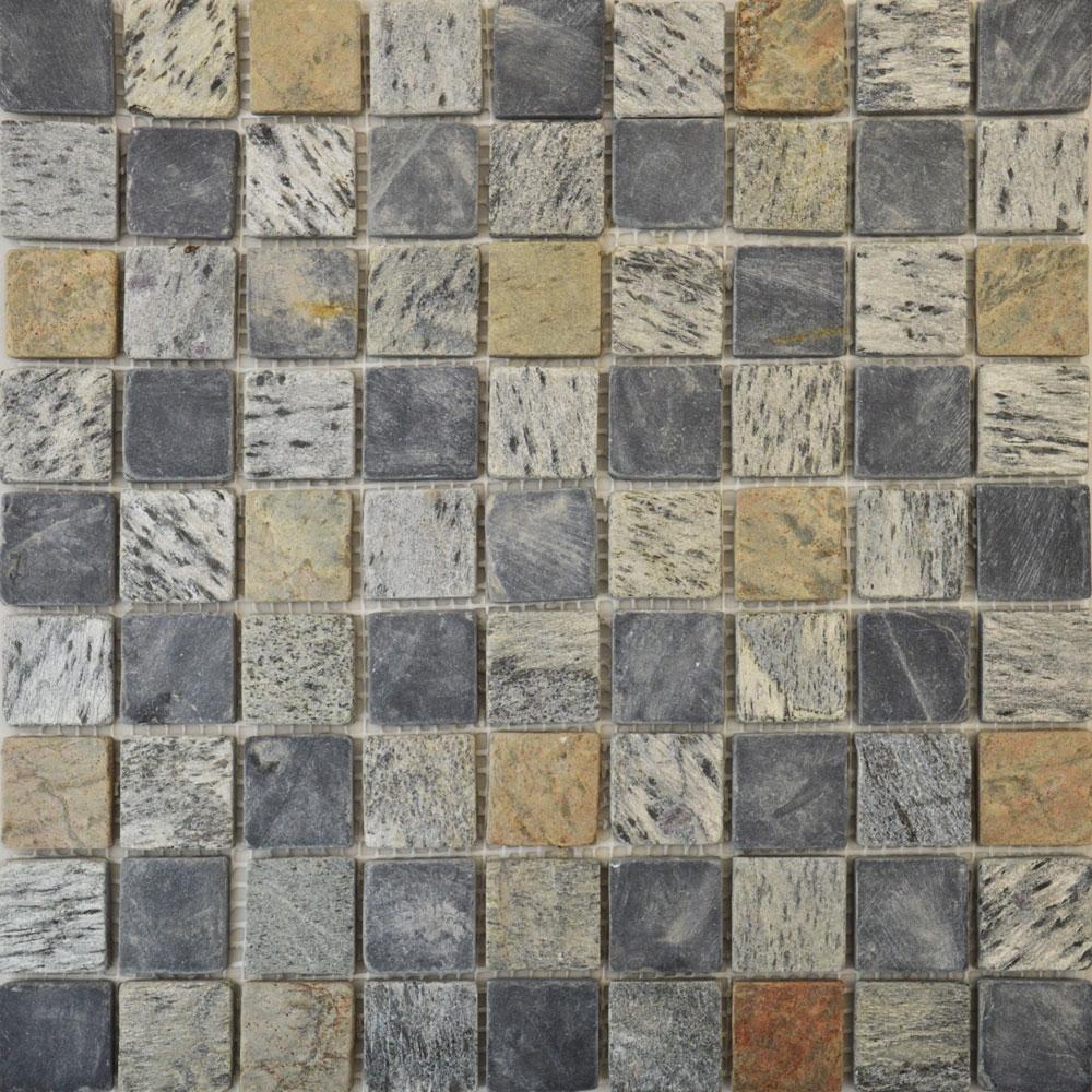 Copper & Pewter Square Mosaic Tiles