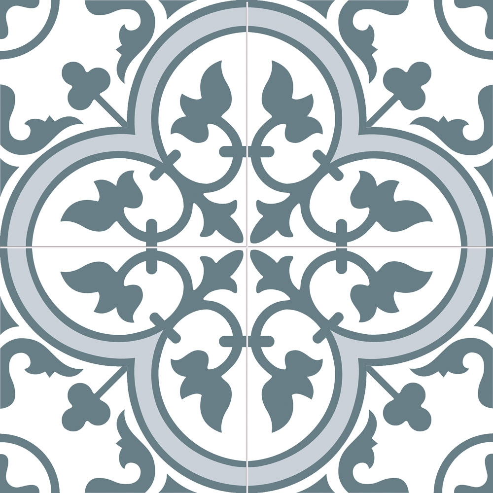 Ledbury Marina Blue Pattern Tiles