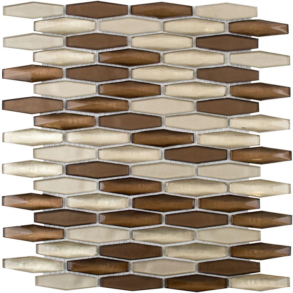 Lozenga Copper Luxe Mosaic Tiles