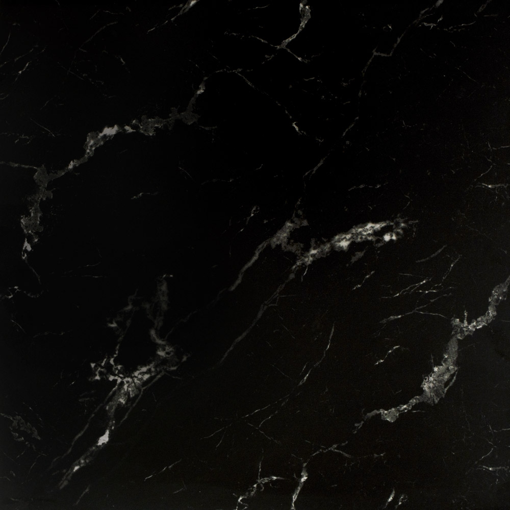 Marquina Black Gloss Marble Effect Tiles