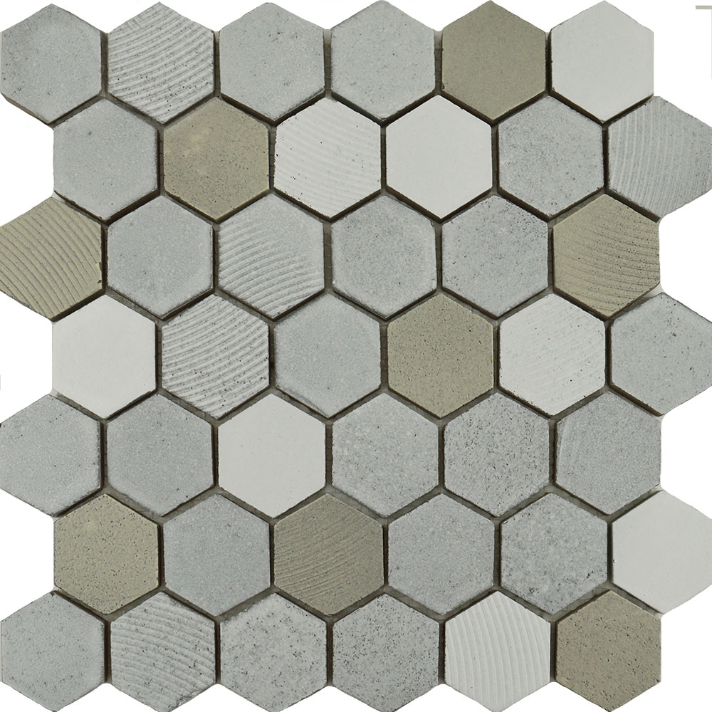Tephra Dusted Moon Hexagon Mosaic Tiles