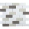 Ligo Glass Latte Brick Mosaic Tiles