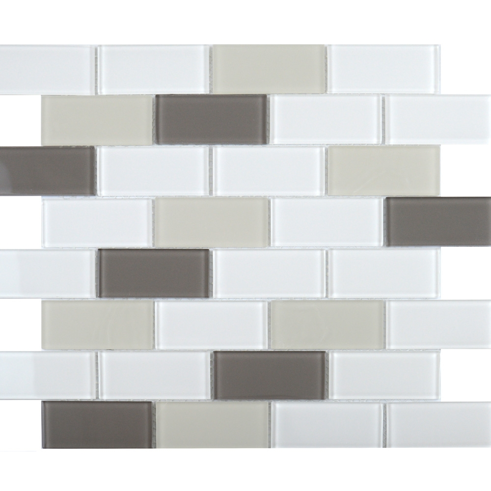 Ligo Glass Latte Brick Mosaic Tiles