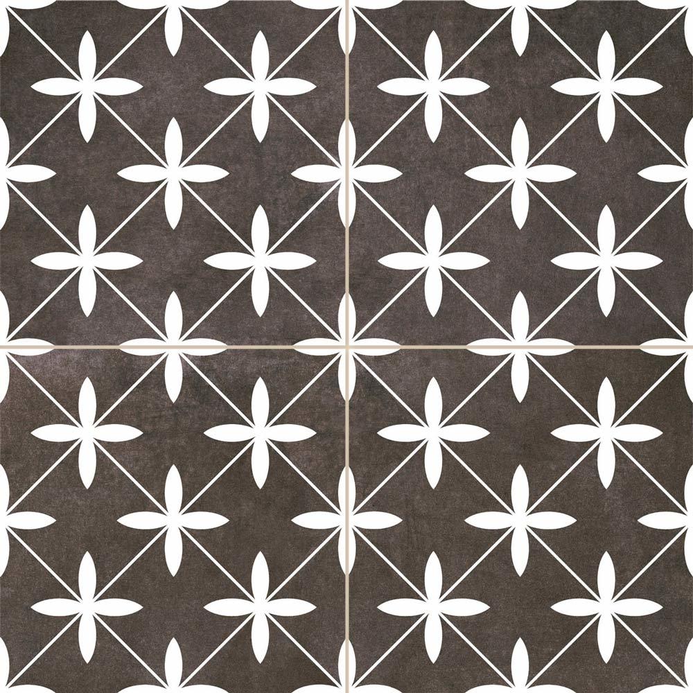 Oakham Black Scored Tiles