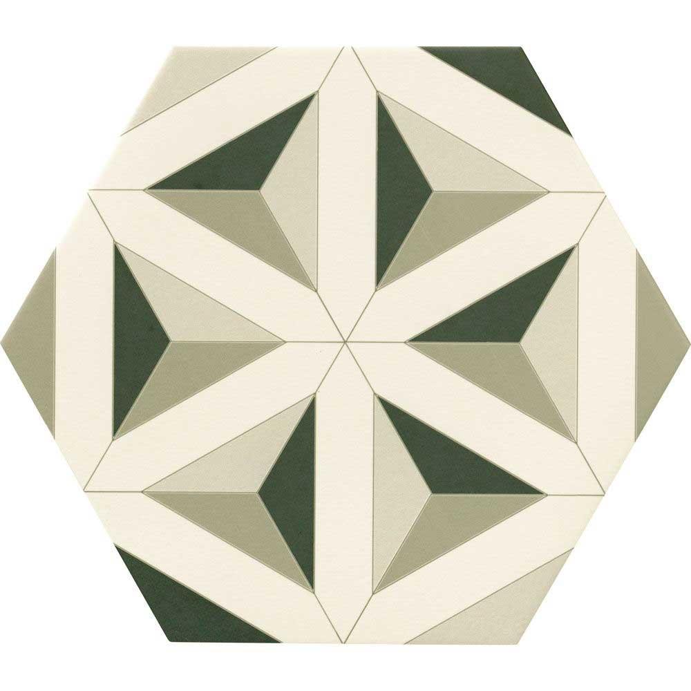 Contour Beige Hexagon Tiles