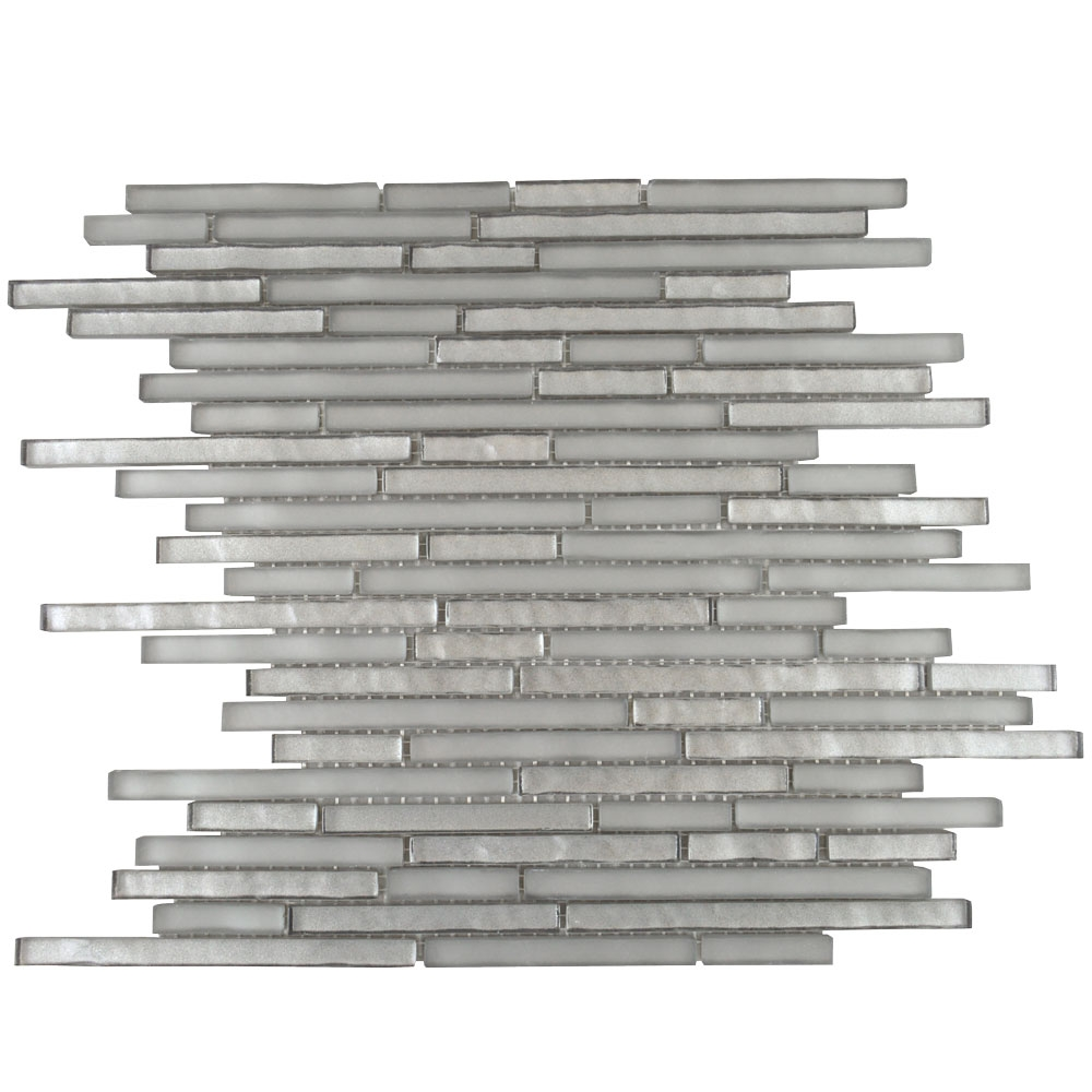 Titanic Linear Pebble Grey Mosaic Tiles