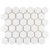 Bijou Gloss White Hexagon Mosaic Tiles