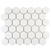 Bijou Matt Hexagon White Mosaic Tiles
