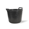 Plastic tub Black 40Ltr