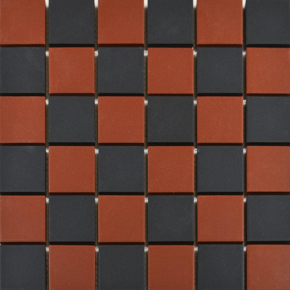 Churchill Crimson & Midnight Chequer Mosaic Tiles