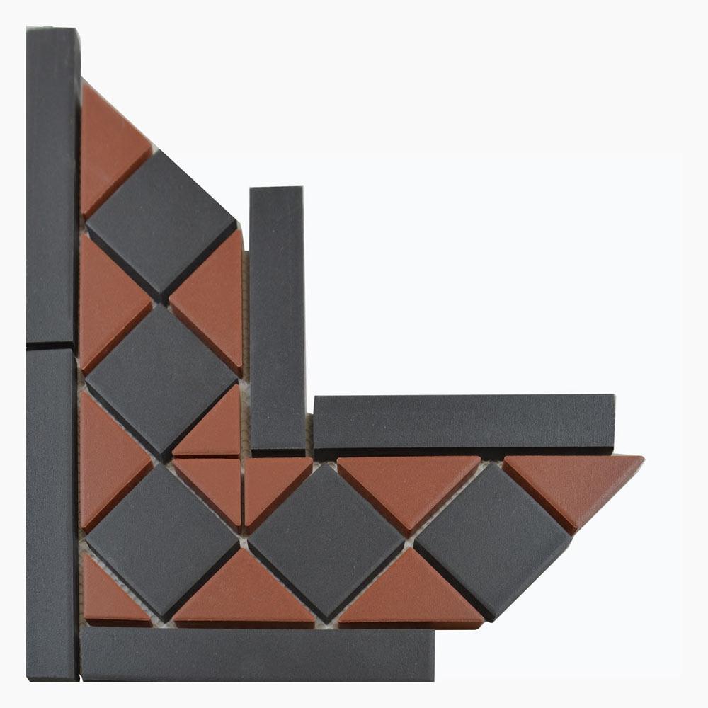 Churchill Crimson & Midnight Corner Tiles